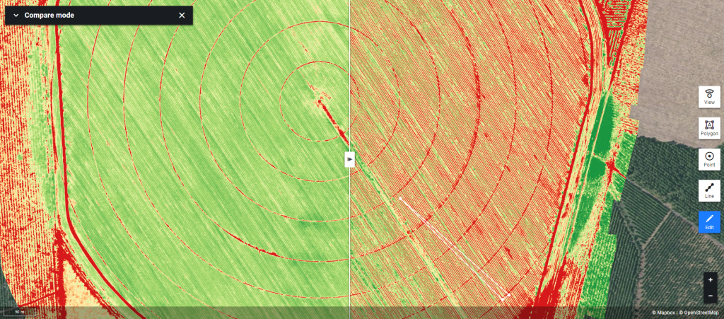 The Alteia platform now enables advanced multispectral and hyperspectral index maps generation